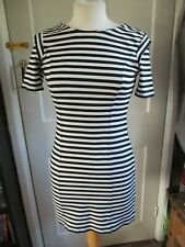 Womens Ladies French Connection Black Striped  Dress Size 10