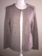 Nanette Lepore 100% Extra Fine Merino Wool Cardigan Light Brown Size Large NWT