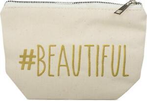 Statement Beautybag #BEAUTIFUL Aufdruck, Kosmetiktasche, Make Up, Tasche, Damen
