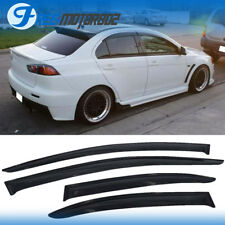 Fit 08-17 Mitsubishi Lancer EVO X 10 MR 4DR Sun Window Visor Rain Guard Vent