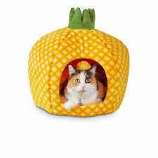 """You & Me Pineapple Cat Bed, 18"""" D"""