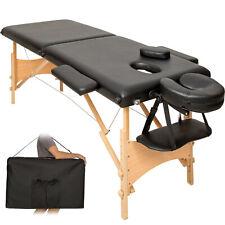 Lettino massaggi portatile massaggio fisioterapia pieghevole 2 zone nero + borsa