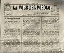 PUGLIA_TARANTO_RARO ANTICO GIORNALE_VOCE DEL POPOLO_CRONACA CITTADINA_AGRARIA