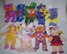 BULK LOT OF 9 BEANIE KIDS ALL MINT WITH TAGS INC TONTO, TWINKLE, AUSSIE BEAR ETC