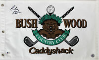 Chevy Chase Caddyshack Authentic Signed Bushwood Country Club Flag BAS Witnessed