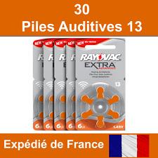 30 piles auditives Rayovac 13 / pile auditive 1.45V / pile pour appareil auditif