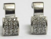 18k 18ct  Gold Diamond Earrings