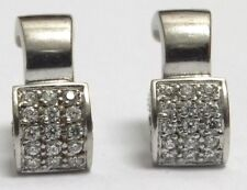 18k 18ct White Gold Diamond Earrings