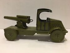 Antique 1920's J. Chein Tin Litho Artillery Cannon Military Truck Rare 9.5""
