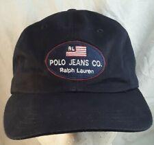 Vtg Ralph Lauren RL Polo Jeans Co Flag Strapback Cap Dad Hat