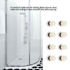 8x Single Sliding Shower Door Enclosures Rollers Runners Wheels 25mm Brass Shaft