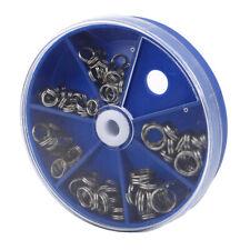 116pcs Heavy Duty Stainless Steel Fishing Split Rings Lure Solid Loop Bait Kit C
