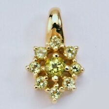 NEW 9K SOLID GOLD PENDANT WITH GENUINE NATURAL PERIDOT'S