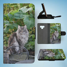 SAMSUNG GALAXY NOTE 9 FLIP CASE WALLET COVER|NORWEGIAN FOREST CAT 2