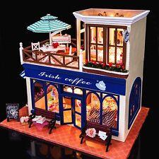 Un artigianato FAI DA TE progetto in Miniatura Bambole Legno Assemblea il mio negozio di caffè in Irlanda