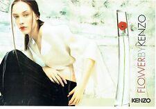 Publicité Advertising  2001  Kenzo parfum femme Flower ( 2 pages)