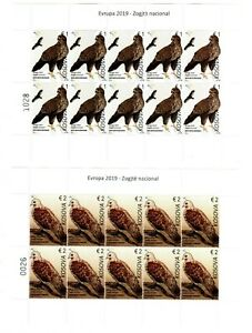 Kosovo Stamps 2019. Europa CEPT: National Birds. Sheet MNH