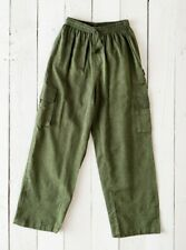 GRINGO fairtrade NEPALESE cotton CARGO TROUSERS baggy COMBATS hippy PANTS GREEN