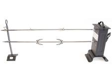 KIT GIRARROSTO ELETTRICO 105x15x35 cm CON 2 SPIEDI E 4 FORCHETTE