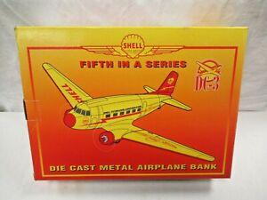 MIB NRFB Liberty Classics Spec Cast 45005 Shell Petroleum DC-3 Plane Bank