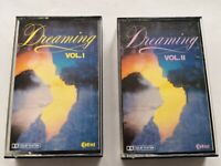 DREAMING VOL 1 & 2 -  2 x CASSETTE TAPES - USED 60s 70s 80s LOVE SONGS POP ROCK