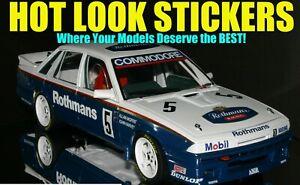 1:18 Allan Moffat Harvey1987 Missing Vinyl Decals VL Commodore Monza Winner