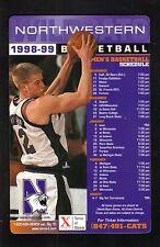 Northwestern Wildcats--Evan Eschmayer--1998-99 Basketball Magnet Schedule