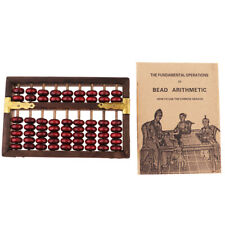 Vintage Chinese Wooden Abacus Arithmetic 9 Digits Calculating Tool - Soroban