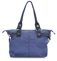 GEORGE GINA & LUCY Nylon All In Schultertasche Tasche Navy Rainbow Blau Neu