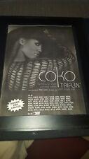 Coko Featuring Eve Triflin' Rare Original Radio Promo Poster Ad Framed!