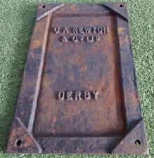 C A Newton & Co Ltd - Derby * Cast Makers Plate Plaque Sign * Home Bar Man Cave