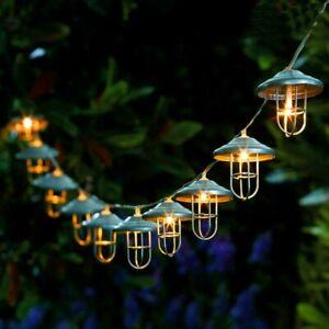 Solar Lichterkette 10 Kugel LED Laterne Beleuchtung Garten Party Außen Dekor DHL