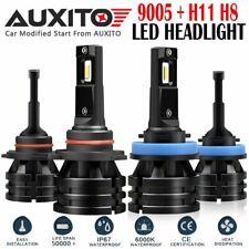 4 PCS H11 9005 LED Headlight M2 High/Low Beam bulb 400W 40000LM 6000K White EOA