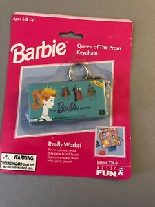 1999 Miniature Reproduction Barbie queen of the Prom game as a Keychain CUTE