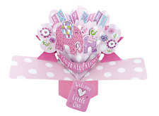 New Baby Girl Pop-up Carte de vœux Original seconde Nature 3D Pop Up cartes