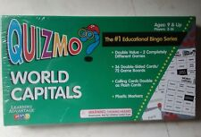 Quizmo World Capitals Bingo Game 2-36 Players, 9+, Calling Cards double as Flash