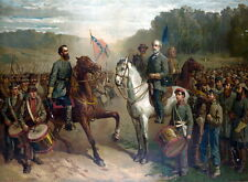 New 13x16 Poster: Last Meeting of Generals Robert E. Lee and Stonewall Jackson