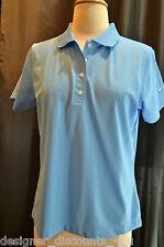 NEW NWOT Nike Golf Ladies Polo Sport Shirt Womens Dri-Fit SKY BLUE SIZE SZ M