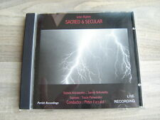 JOHN RUTTER classical CD choral uk PRIVATE choir SUSSEX VOICEWORKS Sacred Secula