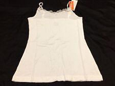 B46 Gillian & O'Malley Women's SLEEP Cami Tank Top WHITE SUPER SOFT SIZE SMALL
