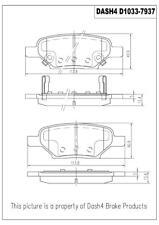 Disc Brake Pad Set-Metallic Pads Rear Pronto PMD1033
