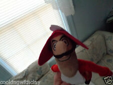 "SMALL 9"" DISNEY VILLIAN CAPTAIN HOOK FROM PETER PAN PLUSH DOLL FIGURE"