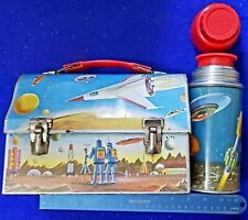 Vintage 1960 Space Theme Lunchbox with Thermos