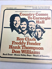 Country comes To Carnegie Hall Roy Clark 2 LP Set 23102087 33RPM Record 031717RR