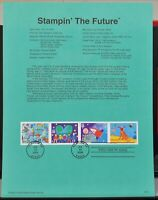 Scott # 3414- US Souvenir Sheet of 4 - Stampin' The Future - MNH - 2000