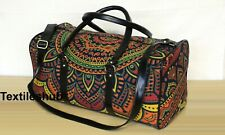 Indian Multicolored New Ombre Mandala Hippie Cotton Handbags Unisex Duffle Bags