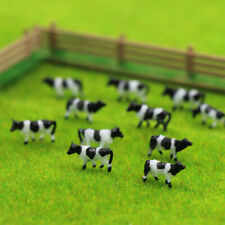 60pcs 1:150 N Scale Well Painted Farm Animals Cows White Black AN15001