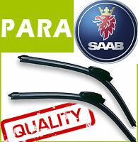 2 Escobillas Limpiaparabrisas Flexibles para Saab 9.3 9-3 2002-2007 55/55cm