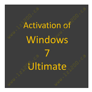 Activation of Windows 7 Ultimate
