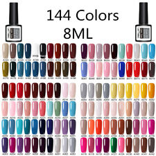 LEMOOC 8ml Nail UV Gel Polish Soak off Nail Art Gel Varnish No Wipe Top Coat Gel